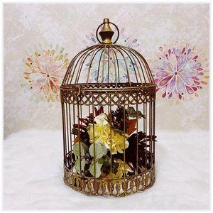 Richland Sudie Bird Cage - Dusted Brass